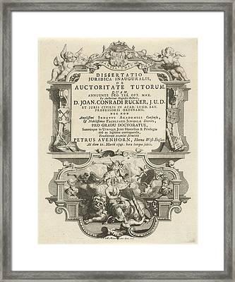 Justice Sitting On The Dutch Lion, Noach Van Der Meer Framed Print