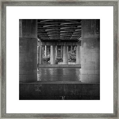 Justin And Less Framed Print by Carl Engman