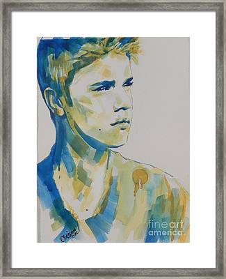 Justin Bieber Framed Print by Chrisann Ellis
