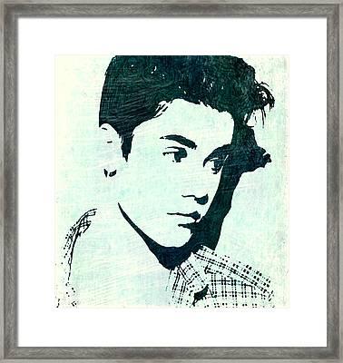 Justin Bieber In Blues Framed Print by ABA Studio Designs