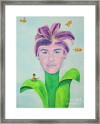 Justin Bieber Painting Framed Print