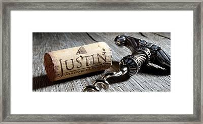 Justin On Silver Oak Framed Print