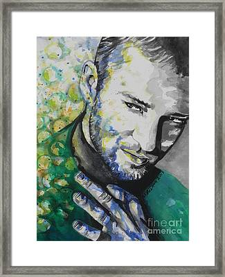 Justin Timberlake...01 Framed Print by Chrisann Ellis