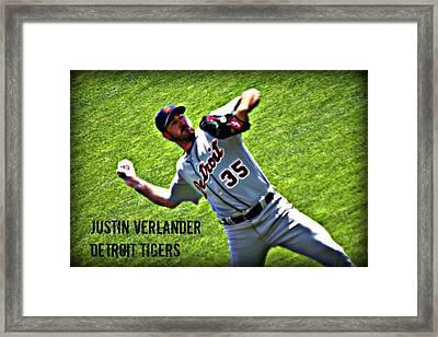 Justin Verlander Framed Print by Melissa Teakell