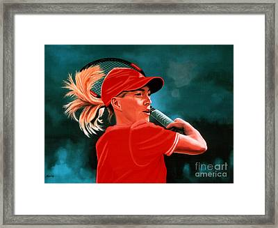 Justine Henin  Framed Print by Paul Meijering