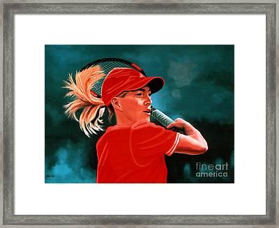 Justine Henin  Framed Print