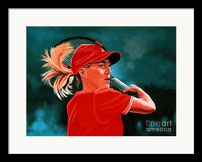 Justine Henin Framed Prints
