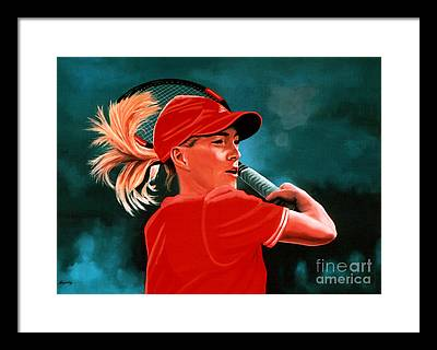 Female Federer Framed Prints