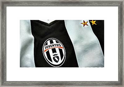 Juventus Poster Art Framed Print by Florian Rodarte
