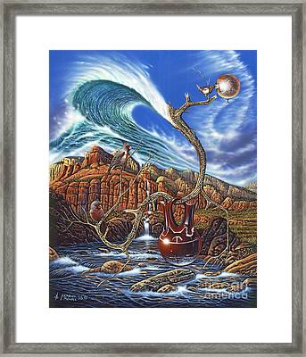 Juxtapostion Framed Print
