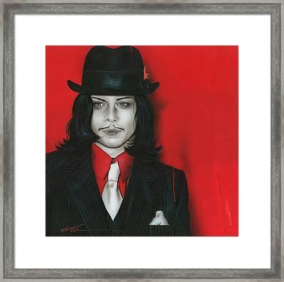 Jack White - ' J. W. ' Framed Print