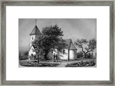 Jylland Thorstrup Kirke 1867 Framed Print by Celestial Images