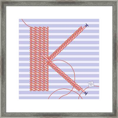 K Is For Knitters And Knitting Framed Print