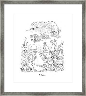K Ration Framed Print
