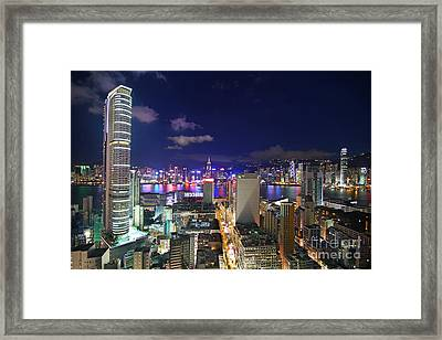 K11 In Tsim Sha Tsui In Hong Kong At Night Framed Print by Lars Ruecker