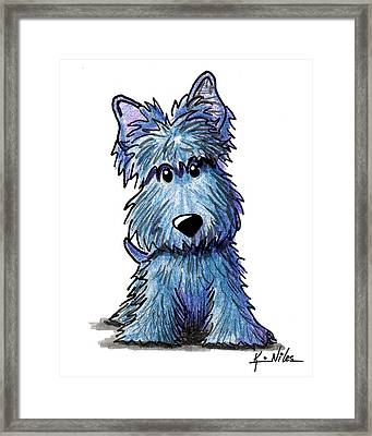 K9 Keanu Scottie Terrier Framed Print by Kim Niles