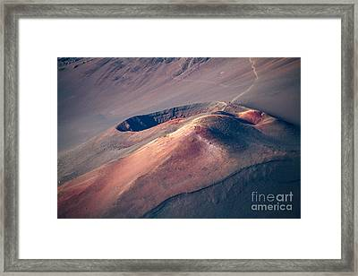 Ka Lu'u O Ka 'o'o  And Sliding Sands Trail Keonehe'e Haleakala Maui Hawaii Framed Print