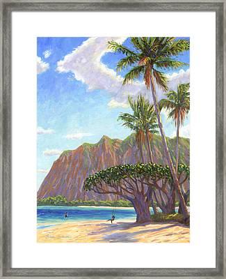 Kaaawa Beach - Oahu Framed Print