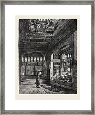 Kaah In The Harem Of Sheykh Sadat Framed Print by Litz Collection
