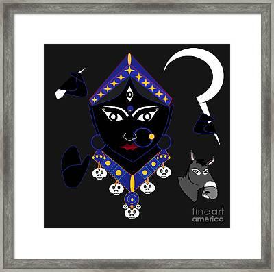 Kaalraatri Framed Print by Pratyasha Nithin