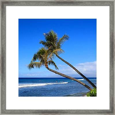 Kaanapali Hawaii Framed Print by DJ Florek