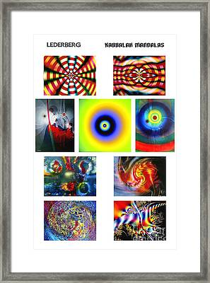 Kabbalah Mandala Poster Framed Print