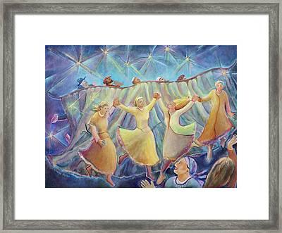 Kabbalat Shabbat 3 Framed Print by Chana Helen Rosenberg