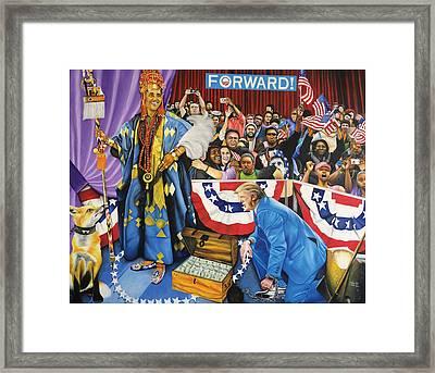 Kabiyesi Oba Obama Unquestionable King Obama Framed Print