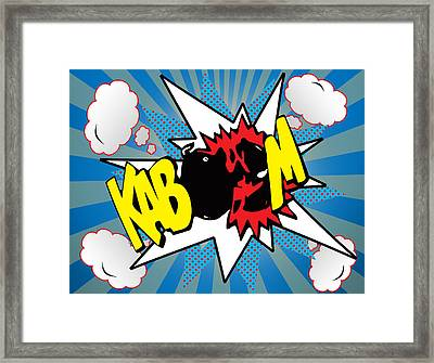 Kaboom Framed Print by Mark Ashkenazi