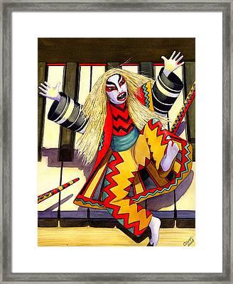 Kabuki Chopsticks 3 Framed Print by Catherine G McElroy