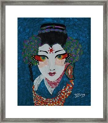 Kabuki Framed Print