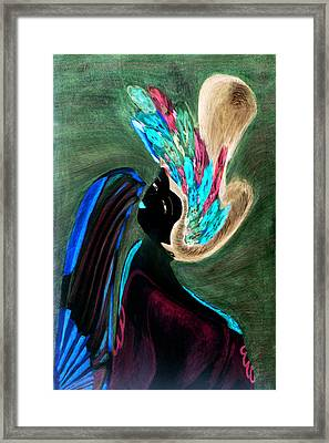Framed Print featuring the painting Kabuki Theatre Gone Wild by Paula Ayers