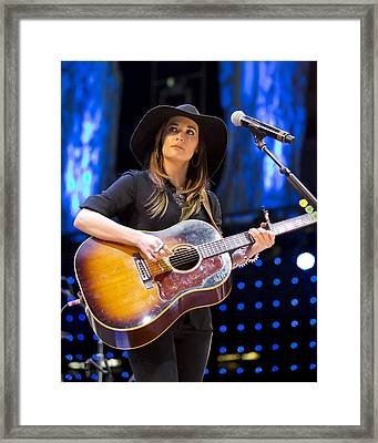 Framed Print featuring the photograph Kacey Musgraves by Shawn Everhart