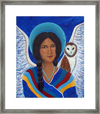 Kachina A Hopi Earthangel Framed Print by The Art With A Heart By Charlotte Phillips