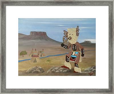 Kachina Owl Dancer Framed Print