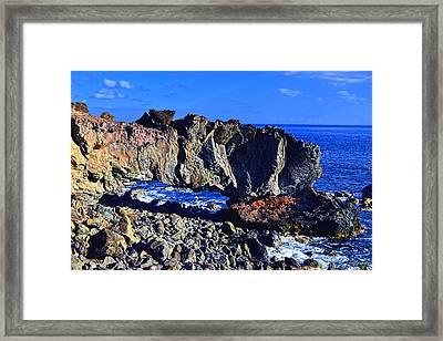 Framed Print featuring the photograph Kaena Point Rock Arch by Aloha Art
