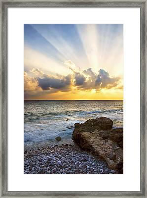 Kaena Point State Park Sunset 2 - Oahu Hawaii Framed Print