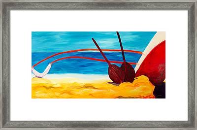 Kaeti's Canoe Framed Print by Beth Cooper