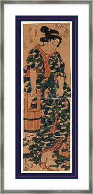 Kaga No Chiyojo, The Maiden Chiyo From Kaga. Between 1844 Framed Print by Eisen, Keisai (ikeda Yoshinobu) (1790-1848), Japanese