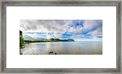 Kahaluu Fish Pond Panorama Framed Print