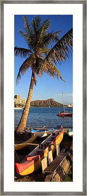 Kahanamoku Beach Framed Print by DJ Florek