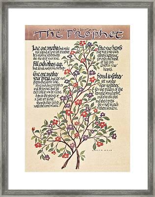 Kahlil Gibran - Marriage Framed Print