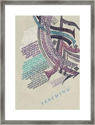 Kahlil Gibran - Teaching Quote Framed Print