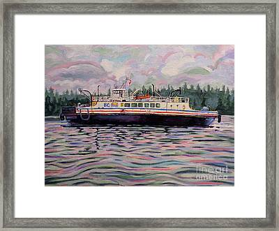 Kahloke The Hornby Ferry Framed Print by Morgan  Ralston