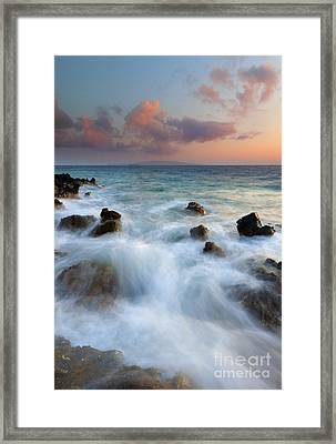 Kahoolawe Sunset Framed Print by Mike  Dawson