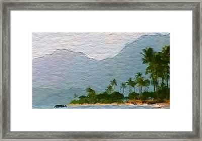 Kahuku Beach Side Framed Print