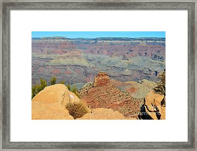 Kaibab Trail Ooh Aah Point View Grand Canyon National Park Framed Print
