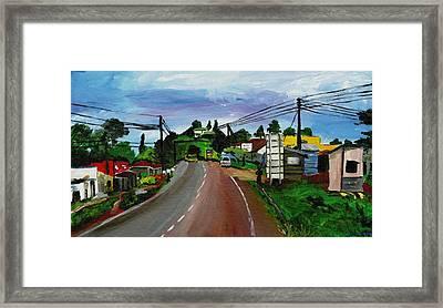 Kaihura Trading Center Framed Print