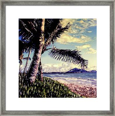 Framed Print featuring the photograph Kailua Beach 3 by Paul Cutright