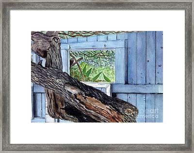 Framed Print featuring the painting Kailua Beach House by Mukta Gupta